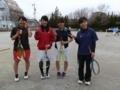 試合後②(左から、久田さん、河津さん、北川、茗荷さん)