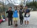 試合後①(左から、澤村さん、五味澤さん、土川さん、優芽)