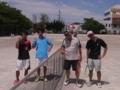 試合後(左から野津、林さん、三浦さん、鷲尾さん)