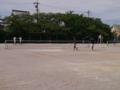 試合風景(写真左から加藤さん、嶋谷さん、大久保さん、原田さん)