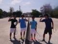 試合後(左から加藤、林さん、松野さん、渡邉さん)