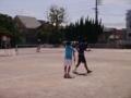 試合風景(左から松野さん、渡邉さん)