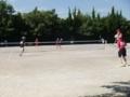 試合風景(写真左から蔵田、希実、山田さん、碧山)