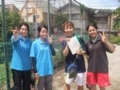試合後(左から五味澤さん、桂川さん、栗山、山田さん)