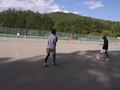 試合風景(手前から広瀬さん、内海、本間さん、渕さん)