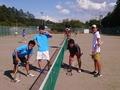 試合後(左から、辰哉さん、小嶋さん、那須さん、青木)