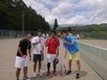 試合後(左から、富田さん、啓斗さん、山本さん、寺西さん)