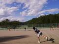 試合風景(手前から鳳彬さん、小松、都築さん、関さん)