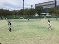 試合風景(栗山・本田)