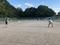 試合風景①(左から蔵田、牧)