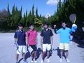 試合後⑤(左から、伊藤、信政、内海、辰哉さん)
