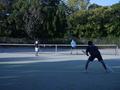 試合風景②(手前から、渕さん、小松、寺西さん、吉田)