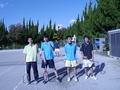 試合後③(左から、広瀬さん、寺西さん、辰哉さん、内海)