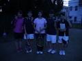 試合後①(左から、彦坂、牧、鹿鳥さん、本田、大角)