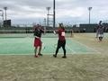 試合風景(左から山田さん、栗山)