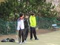 各学年のおバカ担当(右から吉田さん、信政、内海)