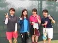 試合後③(左から久田さん、茗荷さん、彦坂、北川さん)