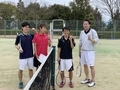 試合後①(右から工藤さん、野津、信政、伊藤さん)