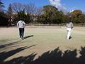 試合風景⑤(手前右から加藤さん、三輪さん、山田さん、久田さん)