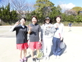 試合後④(右から三輪さん、加藤さん、久田さん、山田さん)