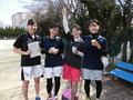 試合後③(右から栗山さん、山田さん、牧さん、蔵田)
