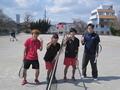 試合後②(右から深谷さん、岩井さん、土屋さん、江口)