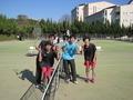 試合後①(右から岩井さん、中村さん、土屋さん、鈴木さん)