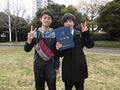 記念ツーショット写真(右から岩井さん、帝釋さん)