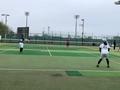 試合風景④(手前から栗山さん、北川さん)
