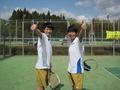 ナイスゲーム!①(左から吉田さん、北野さん)