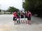 試合後⑧(右から彦坂、本田さん、北川さん、山田さん、碧山)
