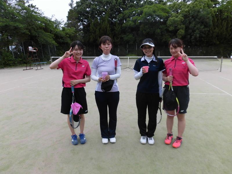 試合後⑦(右から彦坂、加藤さん、三輪さん、碧山)