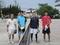 試合後⑥(右から萬中、久野さん、井戸、杉浦さん)