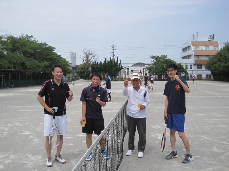 試合後⑤(右から寺西さん、永谷さん、大橋さん、工藤さん)