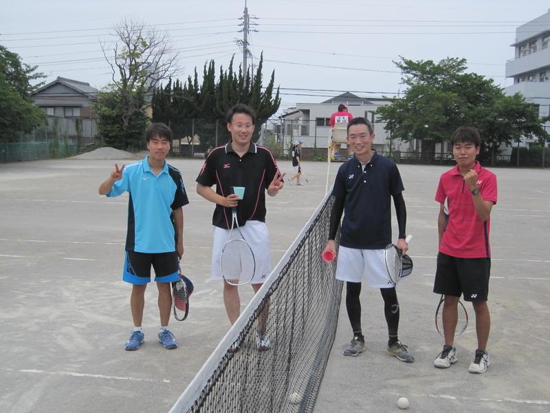 試合後②(右から信政、久野さん、工藤さん、高木)