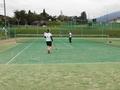 試合風景④(手前から牧さん、北川さん、本田さん、永見)