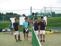 試合後①(右から青木さん、伊藤さん、北島、北野さん)