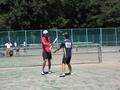 試合中風景①(左から萬中、伊藤さん)