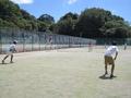 試合中風景①(左から小松、吉田さん)