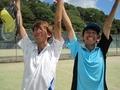 ナイス勝利!①(左から北野さん、北島)
