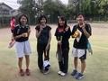 試合後④(右から蔵田、野々山さん、中津原さん、牧さん)