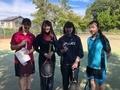 試合後②(右から岸本、伊藤さん、野々山さん、彦坂)