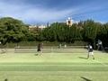 試合風景②(手前右から伊藤さん、鳥居さん、杉浦さん、萬中)