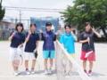 試合後➃(左から…戸澤、北川、茗荷さん、桂川、上永)