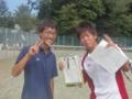 男子試合後➁(左から…鈴木・中村)