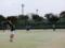 試合風景(手前から加藤、本間さん、河口さん、加藤さん)