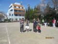 試合後(左から飛田さん、高橋さん、青山さん、土川さん)
