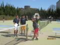 試合後(左から北野、鳳彬さん、土屋、洵哉さん)