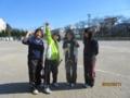 試合後(左から青山さん、高橋さん、茂苅さん、川野さん)