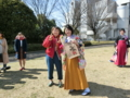 阿武さん卒業おめでとうございます(左から栗山、阿武さん)
